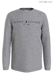 Tommy Hilfiger Grey Essential Long Sleeve T-Shirt