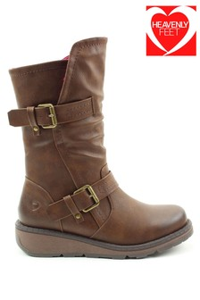 Heavenly Feet Ladies Hannah2 Mid Calf Boots