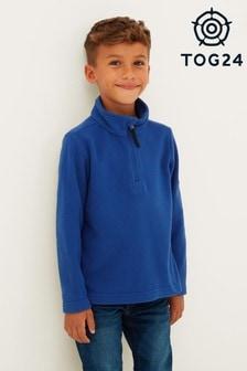 Tog24 Blue Toffolo Kids Zip Neck Fleece