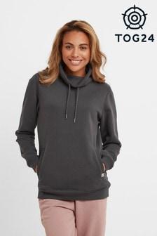 Tog24 Black Abigail Womens Funnel Neck Sweatshirt