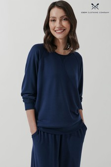 Crew Clothing Company Blue Soft Spun Sweatshirt