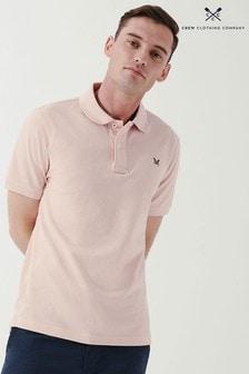 Crew Clothing Company Orange Classic Pique Polo Shirt