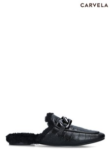 Carvela Black Rebel Mule Shoes