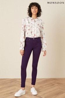 Monsoon Purple Nadine Regular-Length Skinny Jeans