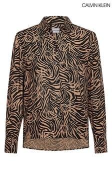 Calvin Klein Camel Winter Viscose Shirt
