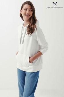 Crew Clothing Company Grey Contrast Hoodie