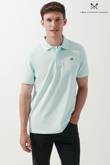 Crew Clothing Company Mens Blue Oxford Tipped Polo