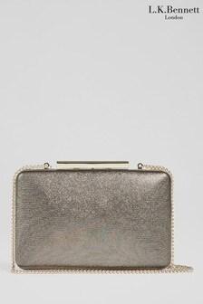L.K.Bennett Bronze Dotty Rectangle Box Clutch