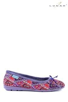 Lunar Purple Pump Slippers