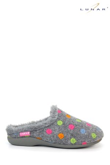 Lunar Grey Bernice Mule Slippers