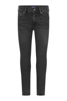 Boys Black Denim Slim Fit Jeans
