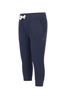 Ralph Lauren Kids Boys Navy Fleece Sweatpants