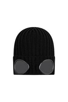 Boys Merino Wool Goggle Hat