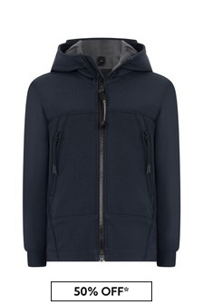CP Company Boys Navy Branded Jacket