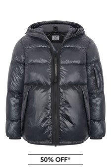 CP Company Boys Ombre Blue Down Padded Goggle Jacket