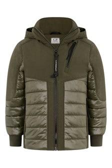 Boys Green Padded Hybrid Jacket