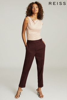 Reiss Pink Freya Slim Fit Tailored Trousers