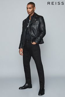 Reiss Black Jet Stay Black Slim Fit Jeans