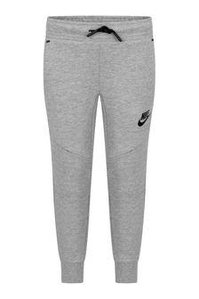 Nike Boys Grey Fleece Tech Joggers