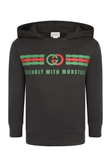 GUCCI Kids Cotton Hooded Sweater