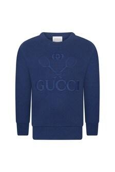 Kids Sweater - Blue Tennis Sweater
