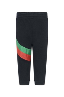 GUCCI Kids Baby Boys Navy Cotton Joggers