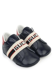 GUCCI Kids Leather Pre Walker Shoes