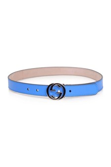 Kids Blue GG Buckle Belt