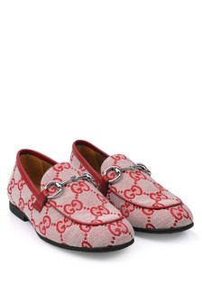 Kids Red GG Loafers