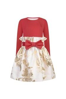 Girls Gold Flower Dress