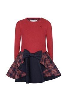 Girls Red Tartan Dress