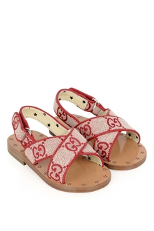 Girls Pink GG Canvas Sandals
