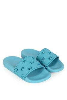 Kids Turquoise Rubber GG Sliders