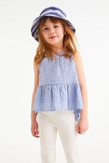 Organic Cotton Peplum Blouse (3-16yrs)