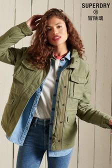 Superdry Rookie Borg Lined Military Jacket