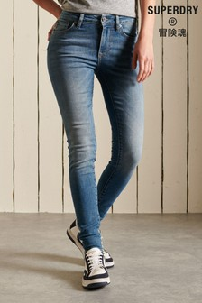 Superdry Blue Mid Rise Skinny Jeans