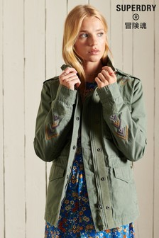 Superdry Green Crafted Rookie Military Jacket