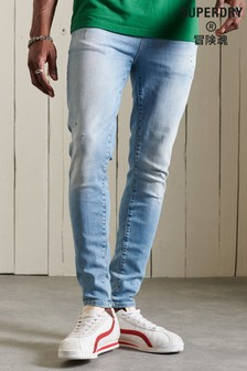 Superdry Mens Blue Skinny Jeans