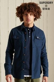 Superdry Mens Blue Trailsman Moleskin Shirt