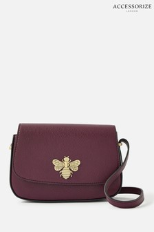 Accessorize Red Britney Bee Cross-Body Bag