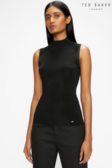 Ted Baker Black Ssiiaa High Neck Knit Jumper