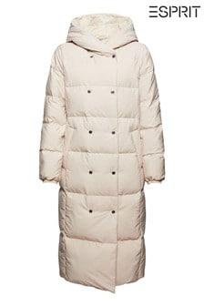 Esprit Beige Reversible Longline Padded Coat