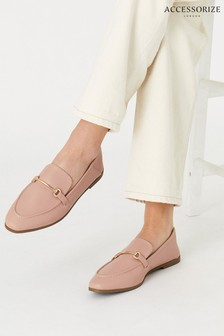 Accessorize Nude Tapered Loafers