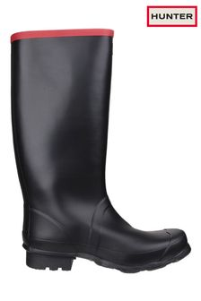 Hunter Black Argyll Full Knee Wellington Boots