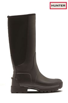 Hunter Black Balmoral Hybrid Tall Wellington Boots