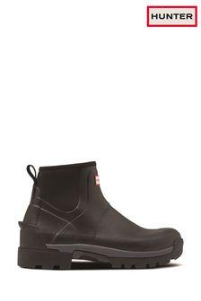Hunter Black Hybrid Chelsea Wellington Boots