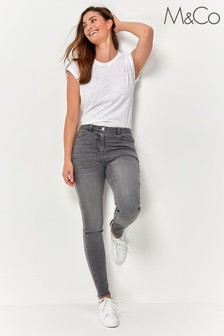 M&Co Grey Skinny Fit Jeans