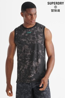 Superdry Black Sport Run Loose Vest
