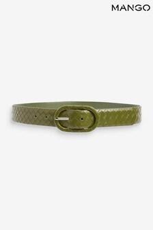 Mango Green Braided Buckle Belt