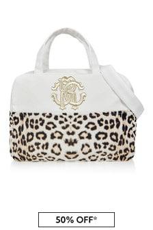 Roberto Cavalli Baby Unisex Beige Changing Bag